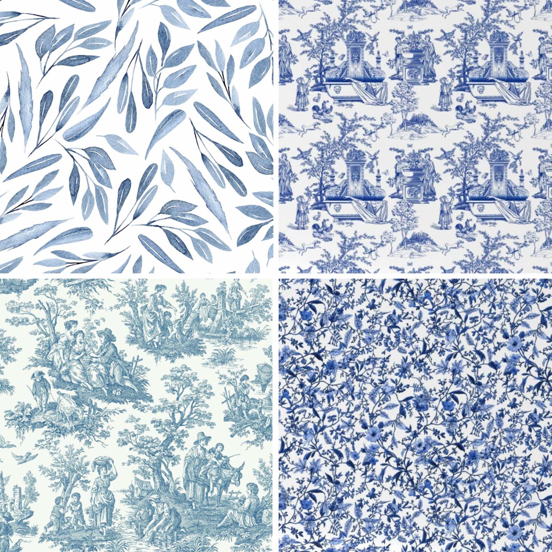 Choosing Guest Bedroom Wallpaper: Battle of the Blues